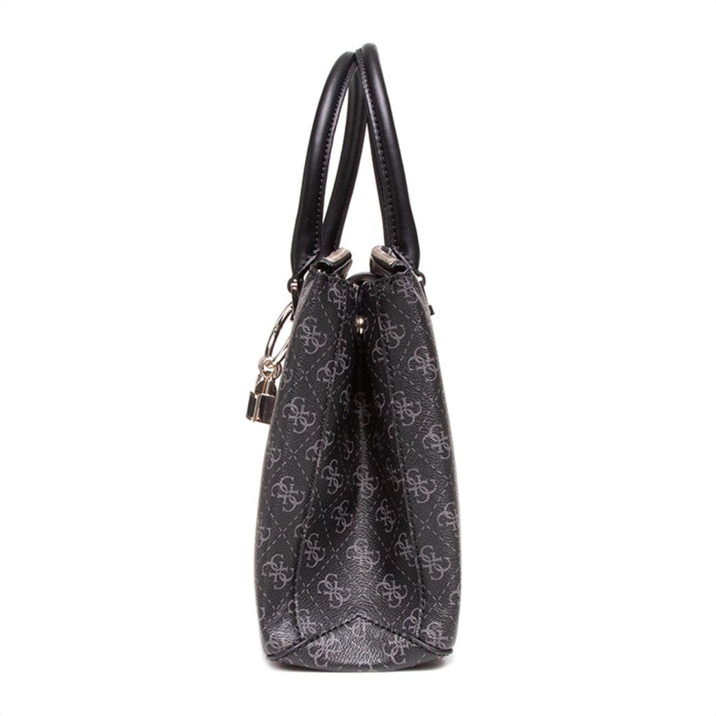 "Guess γυναικεία τσάντα χειρός με all-over logo print και διακοσμητικά λουκέτα ""Tyren"" Ανθρακί 2"