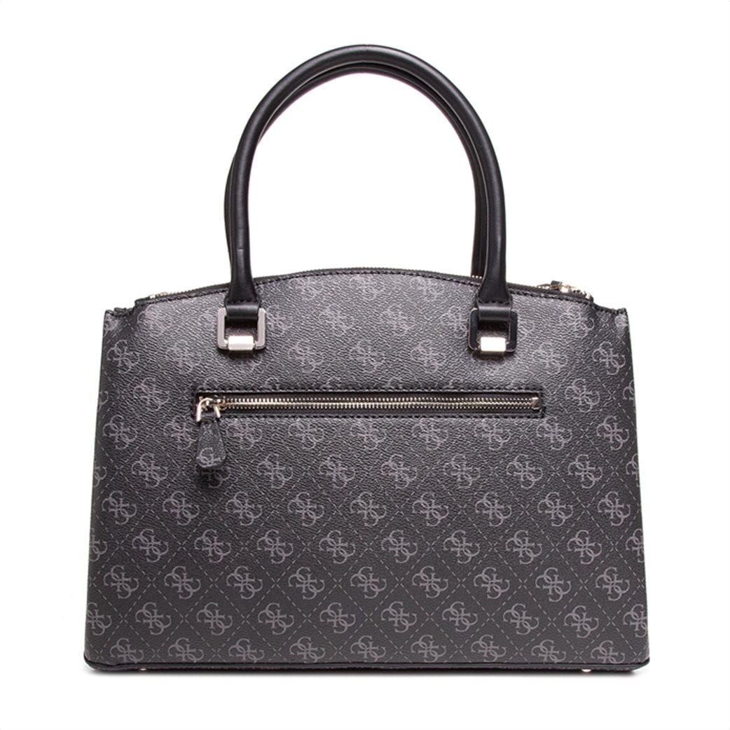"Guess γυναικεία τσάντα χειρός με all-over logo print και διακοσμητικά λουκέτα ""Tyren"" Ανθρακί 3"