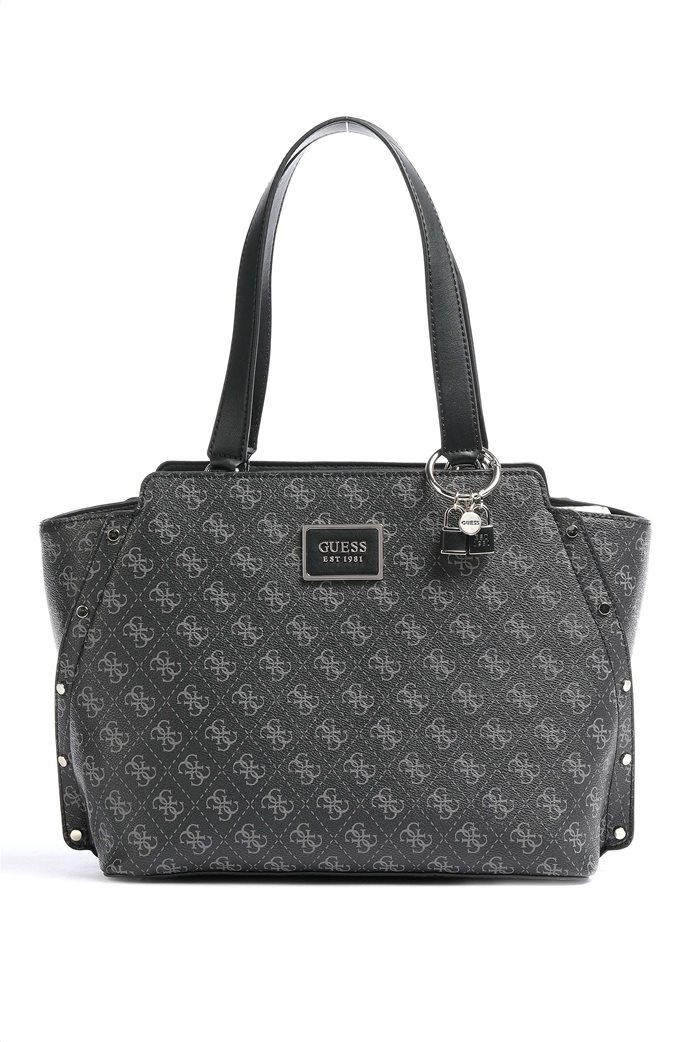 "Guess γυναικεία τσάντα ώμου με all-over logo print και τρουκς ""Tyren"" 0"