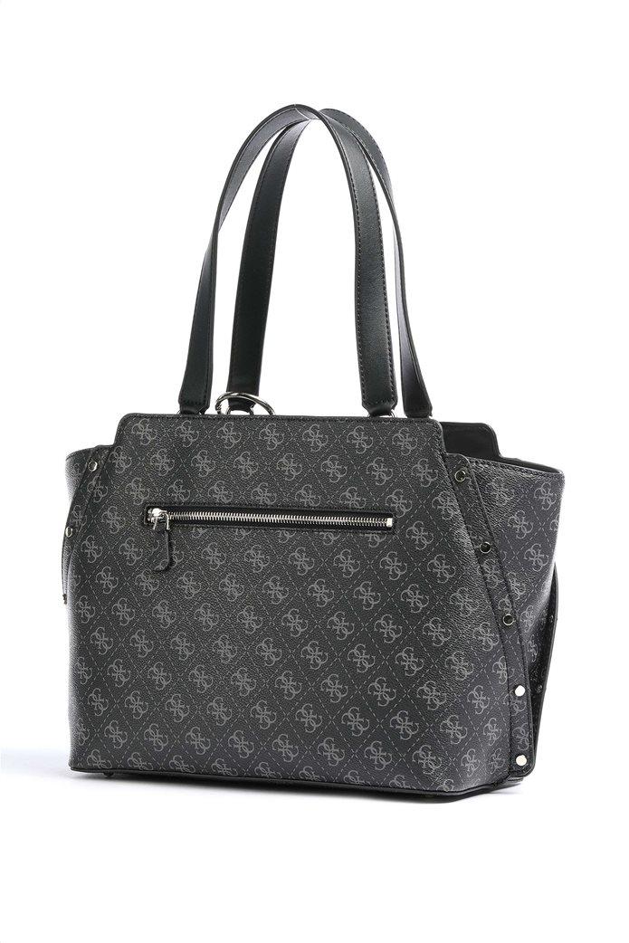 "Guess γυναικεία τσάντα ώμου με all-over logo print και τρουκς ""Tyren"" 1"