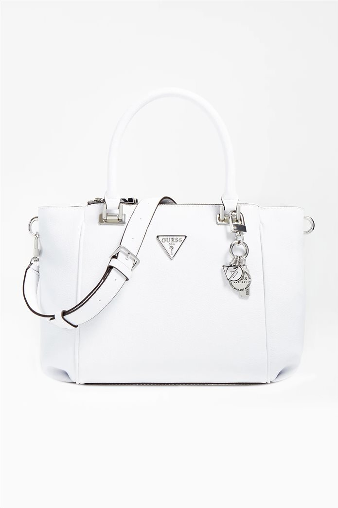 "Guess γυναικεία τσάντα χειρός με διακοσμητικό μπρελόκ ""Destiny"" 0"