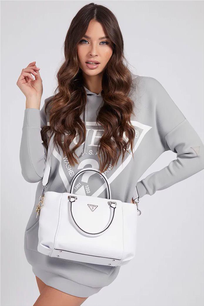 "Guess γυναικεία τσάντα χειρός με διακοσμητικό μπρελόκ ""Destiny"" 1"