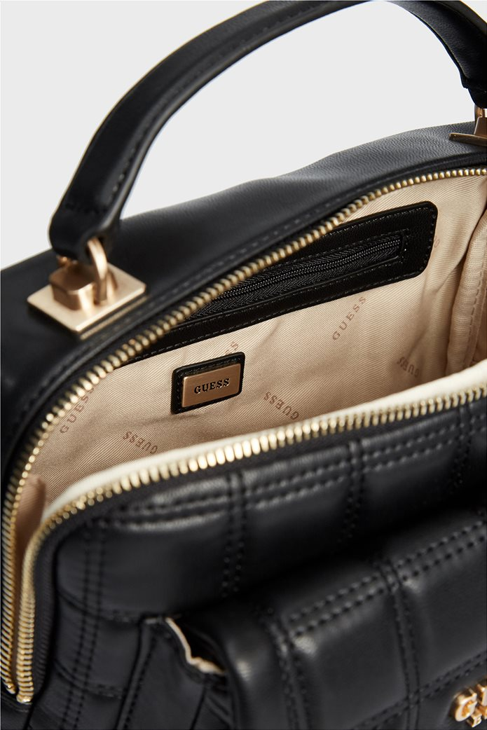 "Guess γυναικεία τσάντα χειρός καπιτονέ με εξωτερική θήκη ""Kamina"" 4"
