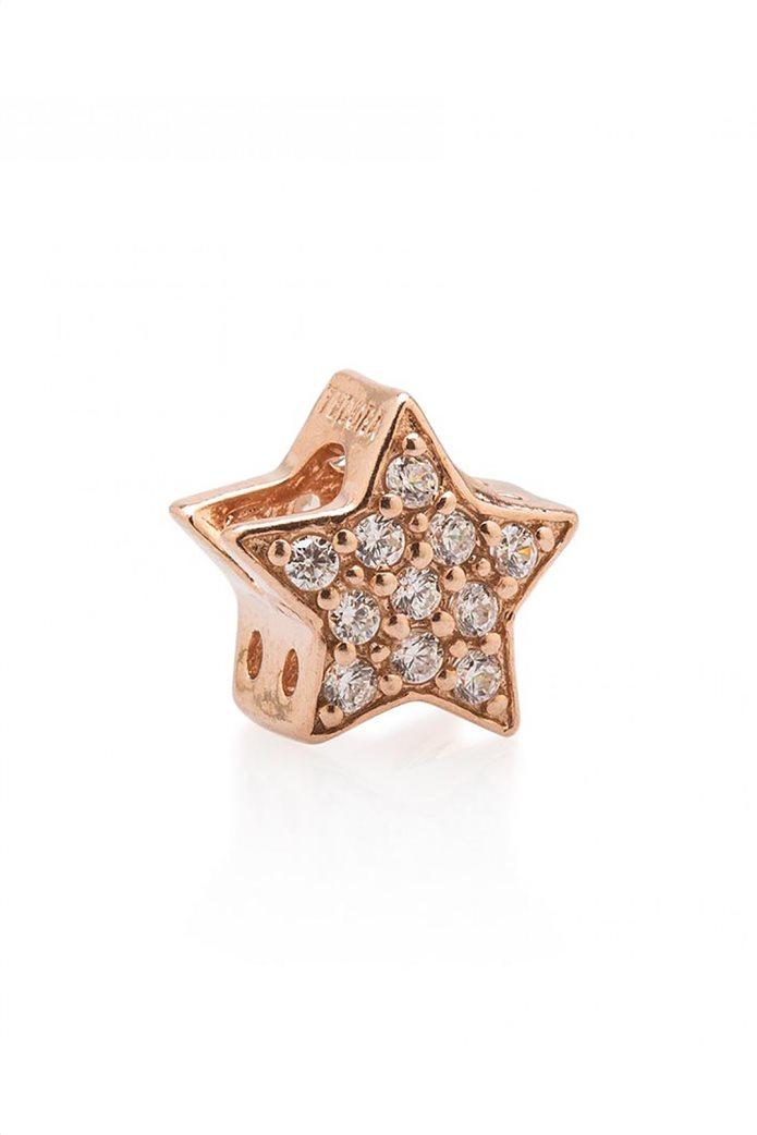 Tedora επιχρυσωμένο charm με ζιργκόν White Paved Diamonds Stella 0