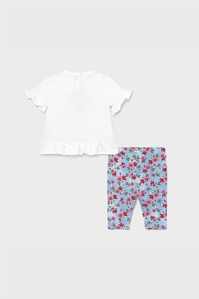 Mayoral βρεφικό σετ ρούχων μπλούζα με floral κολάν και κορδέλα (9-36 μηνών) 1