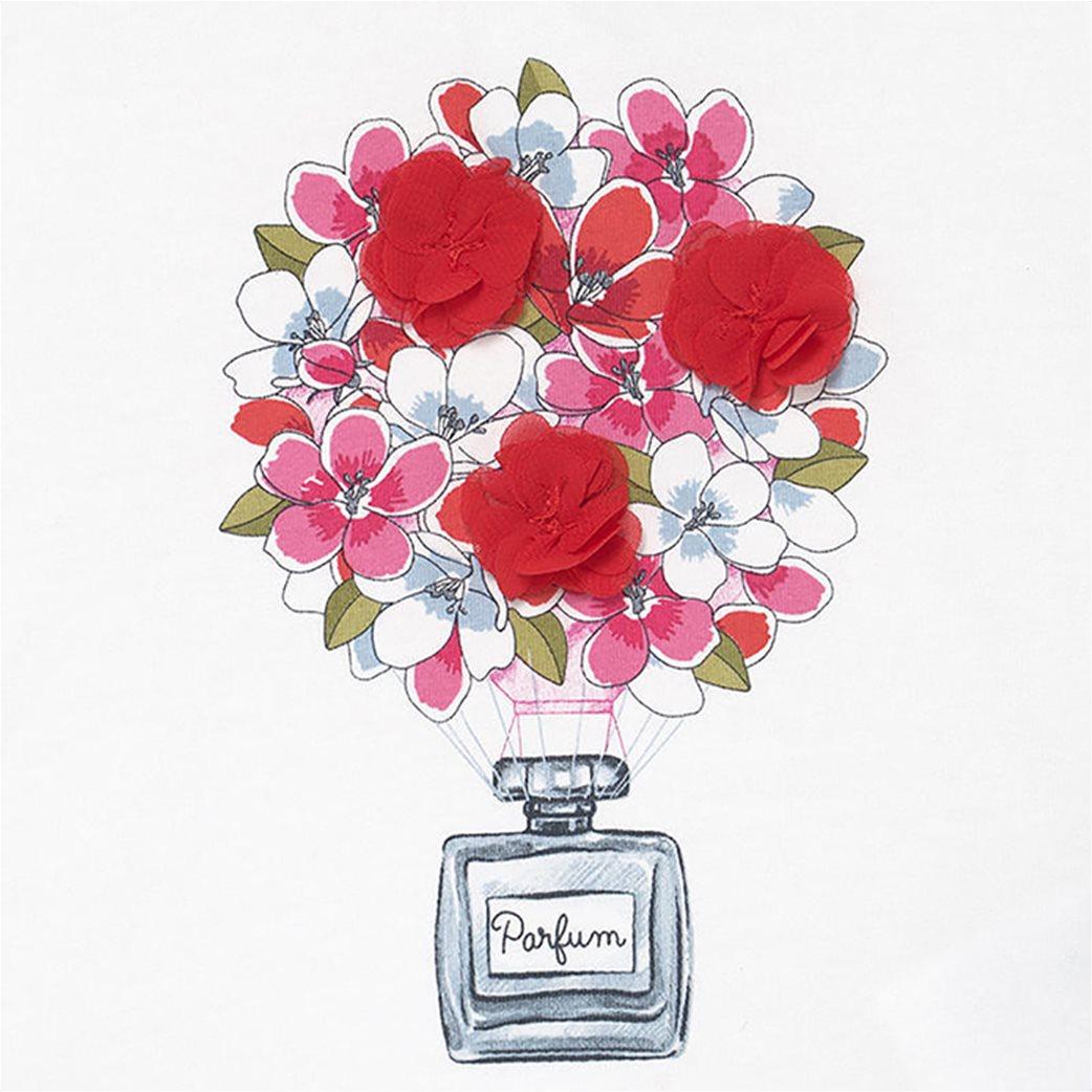 Mayoral βρεφικό σετ ρούχων μπλούζα με floral κολάν και κορδέλα (9-36 μηνών) 2