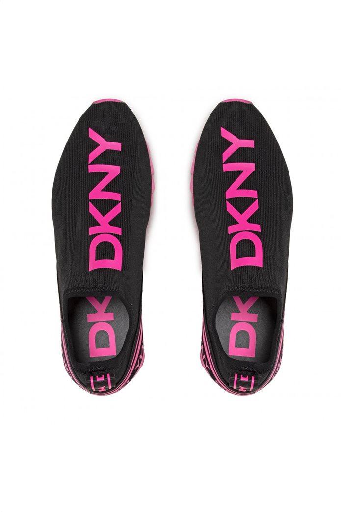 DKNY γυναικεία sneakers Slip-On με contrast λογότυπο ''Abbi'' Μαύρο 4
