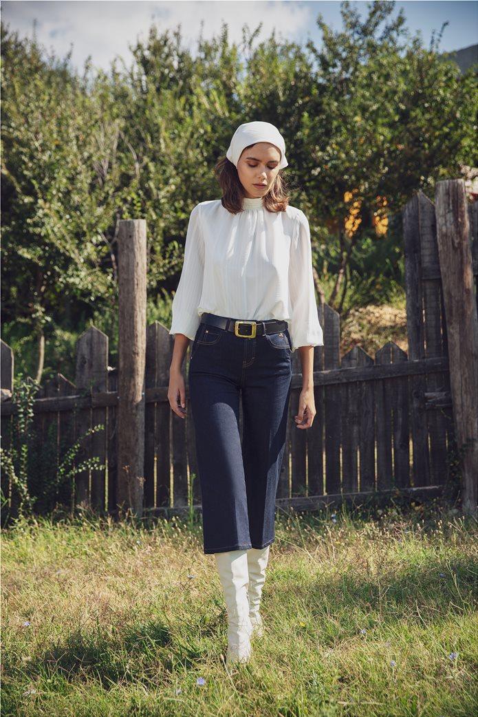 Sarah Lawrence Jeans γυναικείο τζην ψηλόμεσο παντελόνι cropped 0