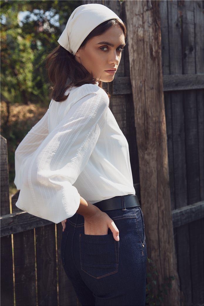 Sarah Lawrence Jeans γυναικείο τζην ψηλόμεσο παντελόνι cropped 1