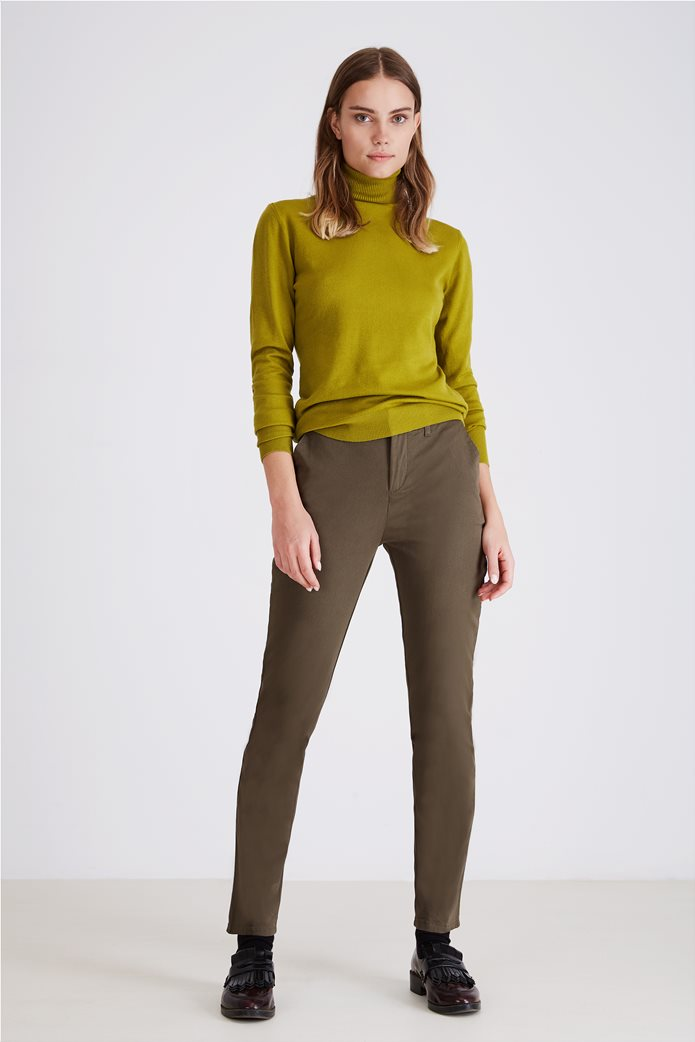 Sarah Lawrence Jeans γυναικείο παντελόνι chino μονόχρωμο 0