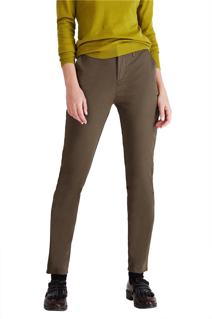 Sarah Lawrence Jeans γυναικείο παντελόνι chino μονόχρωμο 1