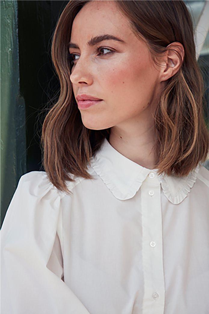 Fransa γυναικείο πουκάμισο με balloon μανίκια Λευκό 2