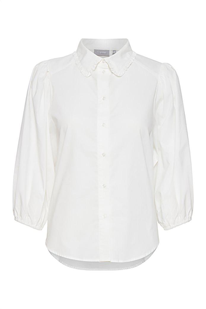 Fransa γυναικείο πουκάμισο με balloon μανίκια Λευκό 3