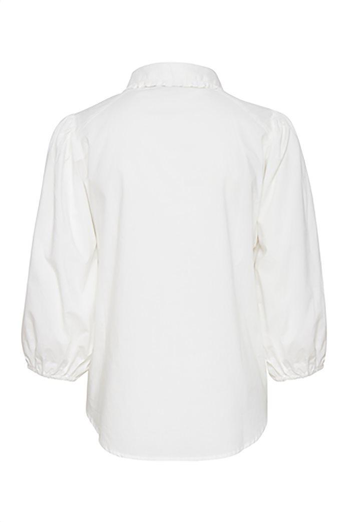 Fransa γυναικείο πουκάμισο με balloon μανίκια Λευκό 4
