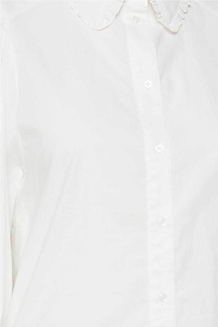 Fransa γυναικείο πουκάμισο με balloon μανίκια Λευκό 5