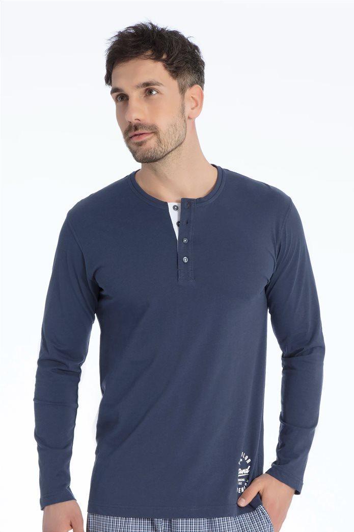Tom Tailor ανδρική μπλούζα πιτζάμας με print 0