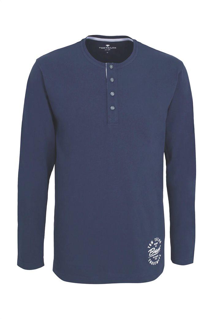 Tom Tailor ανδρική μπλούζα πιτζάμας με print 3