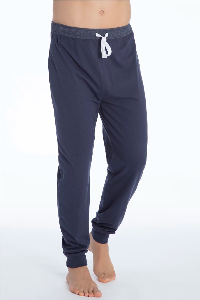 Tom Tailor ανδρικό παντελόνι πιτζάμας μονόχρωμο 1