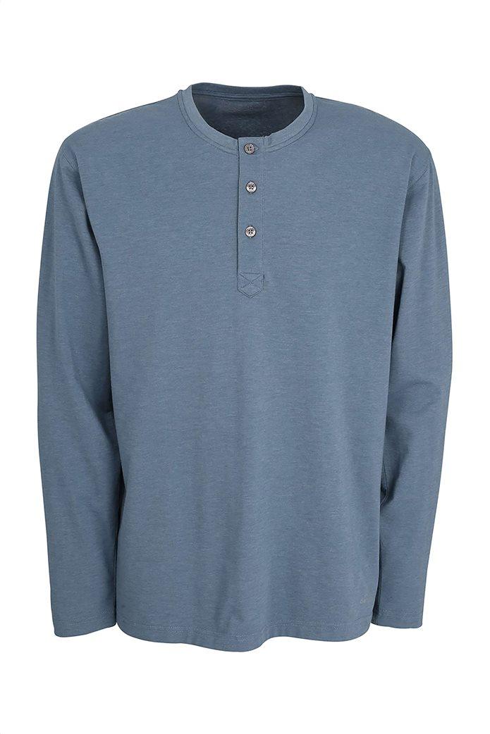 Ceceba ανδρική μπλούζα πιτζάμας μονόχρωμη 0