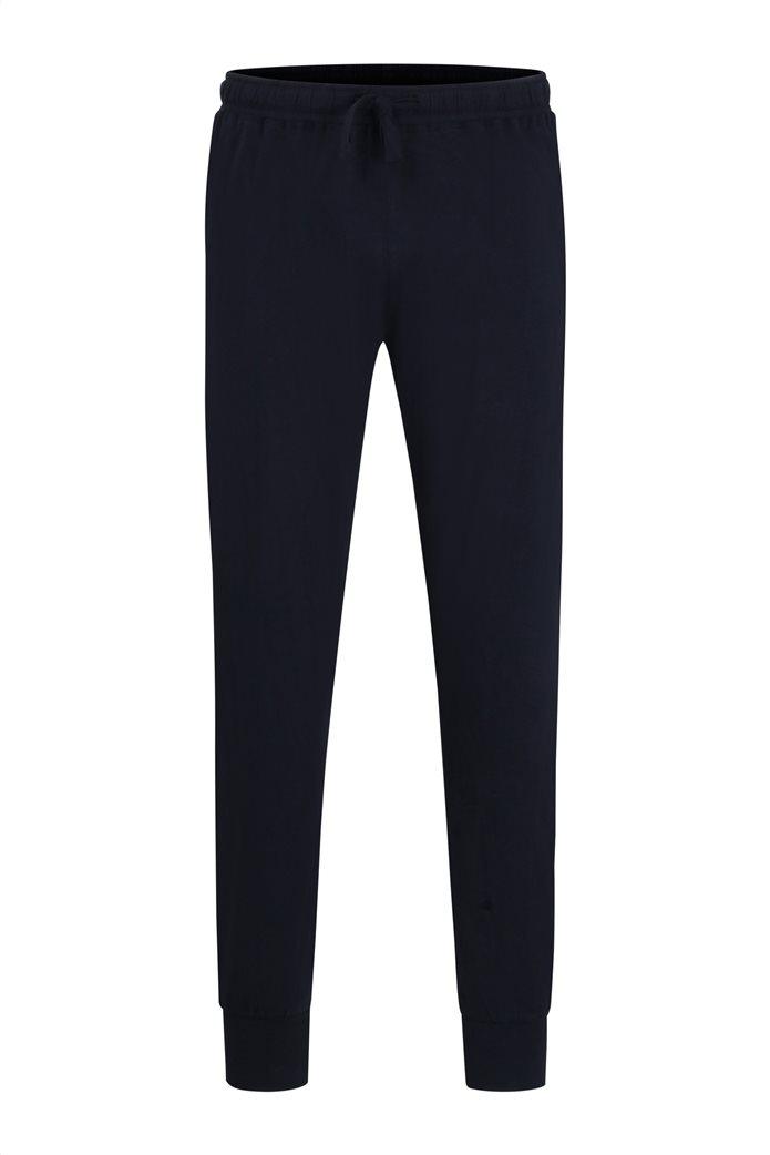 Götzburg ανδρικό homewear παντελόνι jogger με ελαστική μέση Μπλε Σκούρο 0