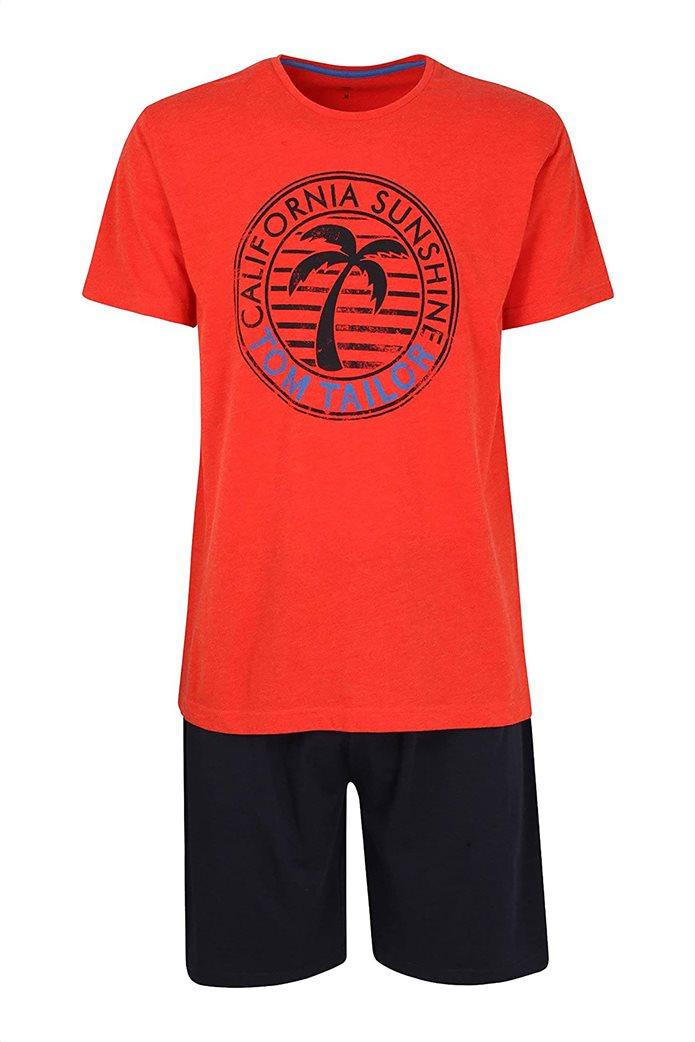 Tom Tailor ανδρικό σετ βαμβάκερες πιτζάμες με graphic print 0