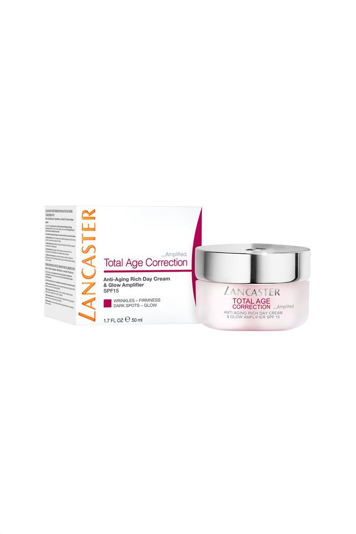 Lancaster Total Age Correction Amplified - Anti-Aging Rich Day Cream & Glow Amplifier Spf15 50 ml  1