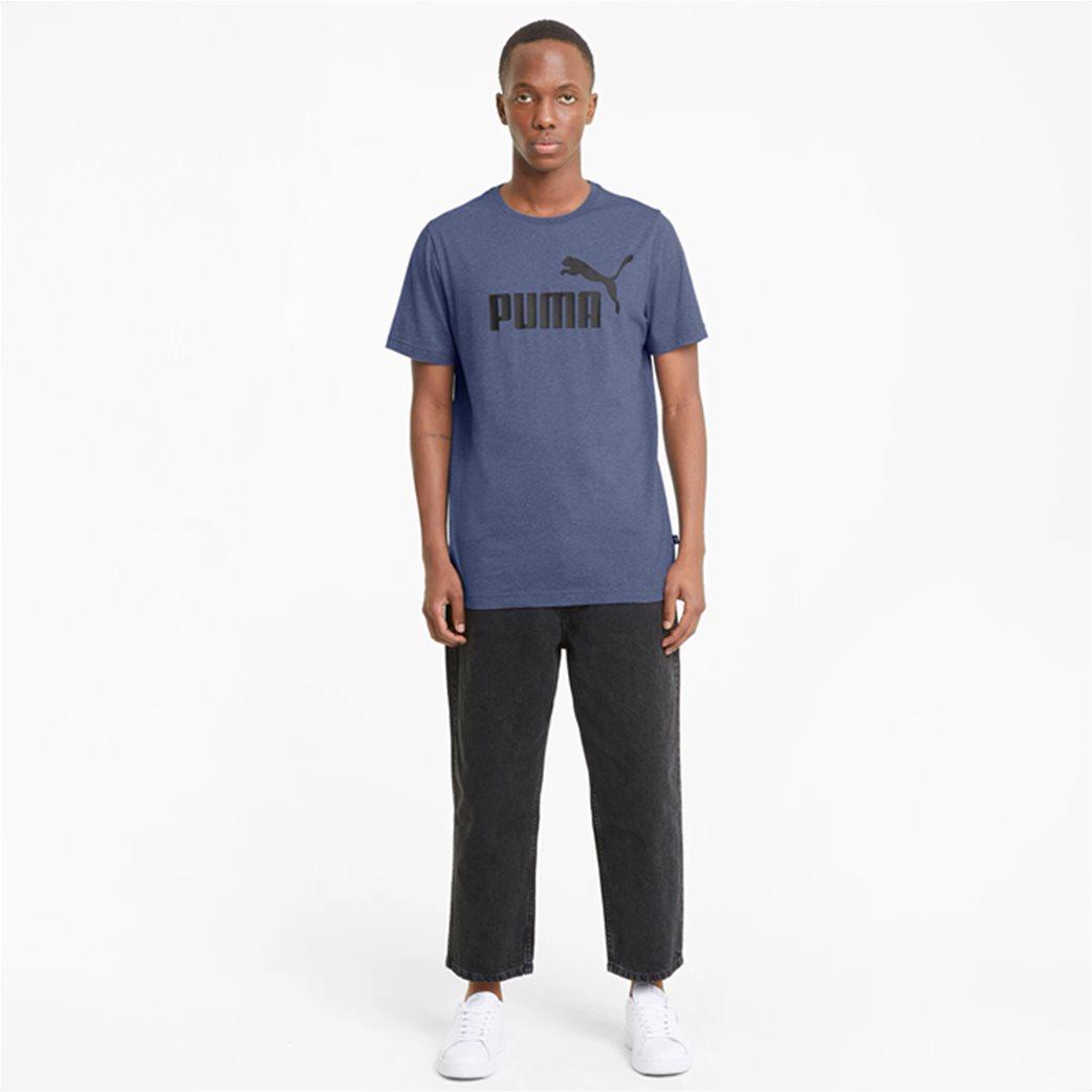 Puma ανδρικό T-Shirt με logo print ''Essentials Heather'' 2