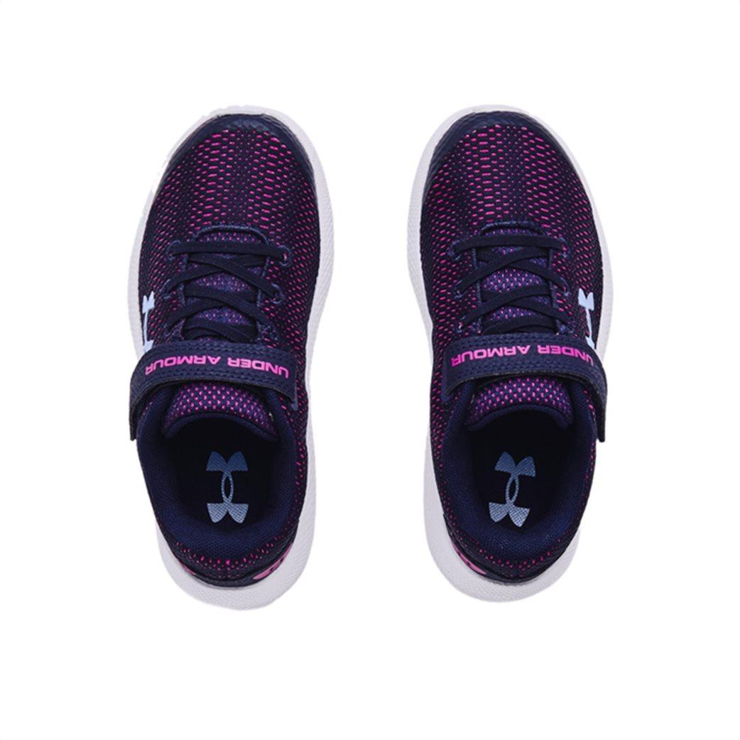 "Under Armour παιδικά αθλητικά παπούτσια ""UA Charged Pursuit 2"" (17-22) Μπλε Σκούρο 3"