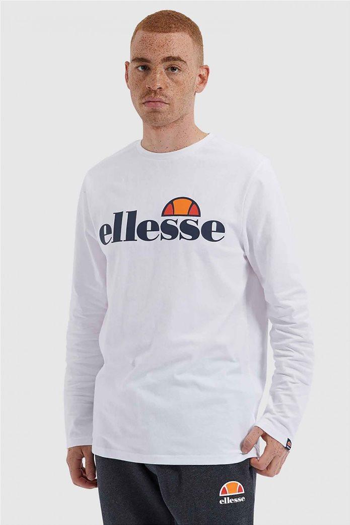 """Ellesse ανδρικό φούτερ με logo print """"Grazie"""" Μαύρο 0"""