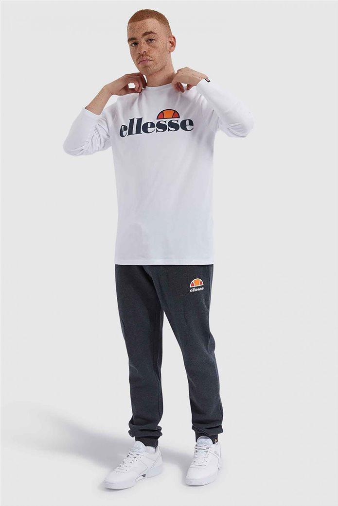 """Ellesse ανδρικό φούτερ με logo print """"Grazie"""" Μαύρο 1"""