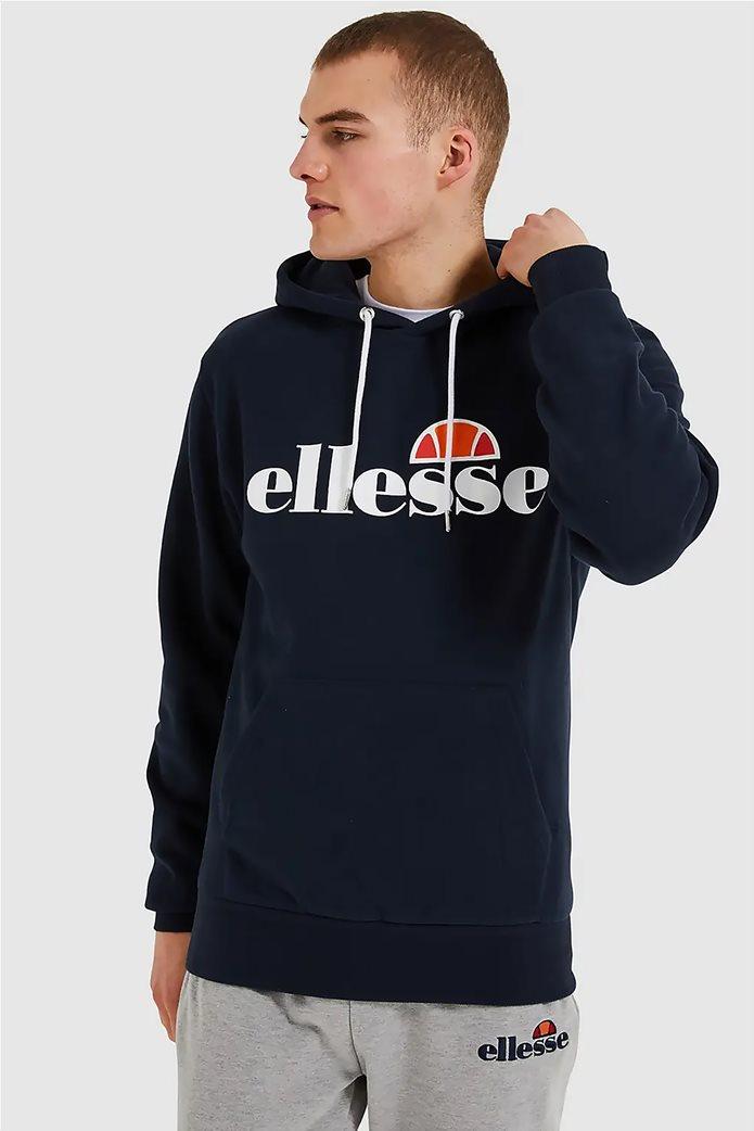 "Ellesse ανδρικό φούτερ με κουκούλα και logo print ""Gottero"" Μαύρο 0"