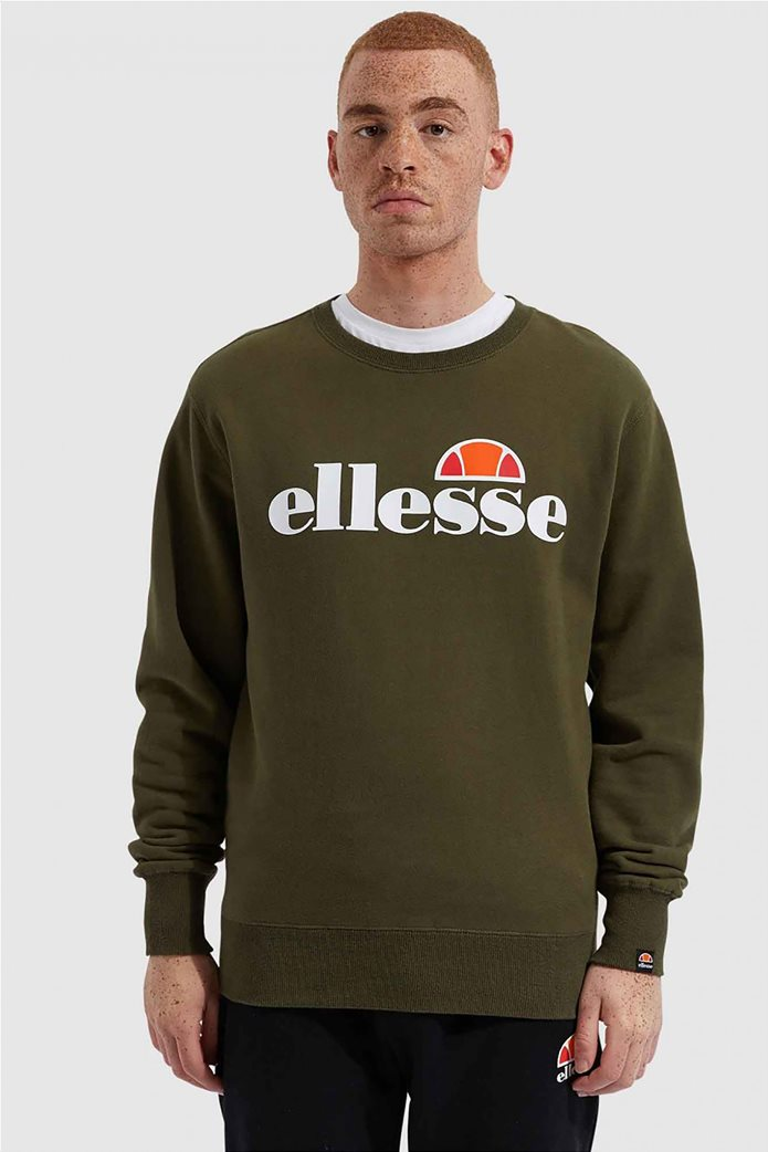 "Ellesse ανδρικό φούτερ με logo print ""Succiso"" Μαύρο 0"