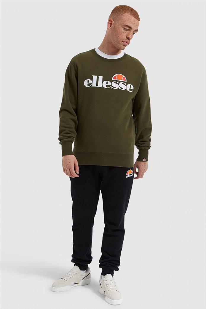 "Ellesse ανδρικό φούτερ με logo print ""Succiso"" Μαύρο 1"