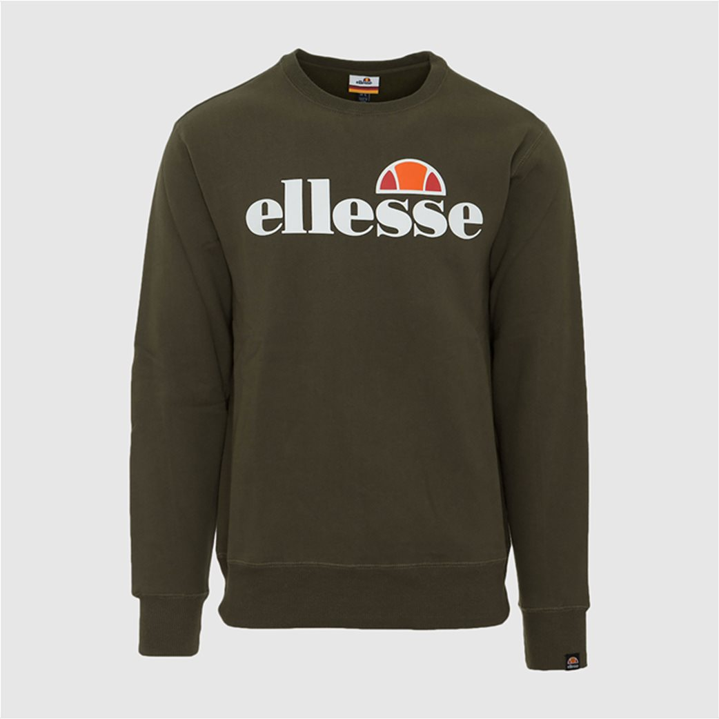 "Ellesse ανδρικό φούτερ με logo print ""Succiso"" Μαύρο 3"