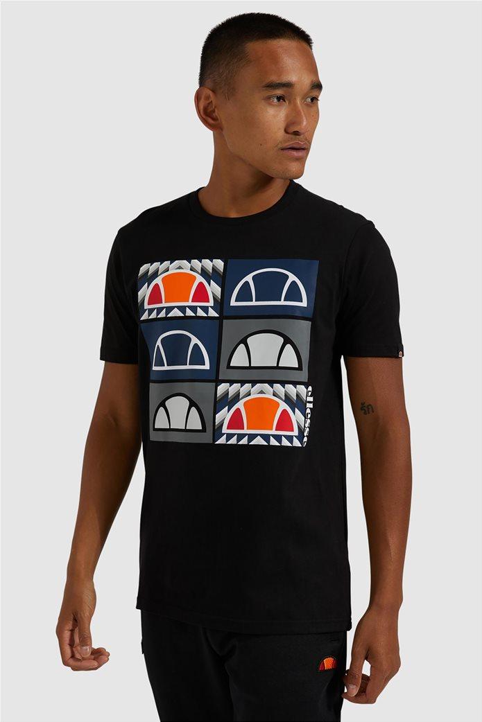 "Ellesse ανδρικό T-shirt με logo print ""Romal"" Μπλε Σκούρο 0"