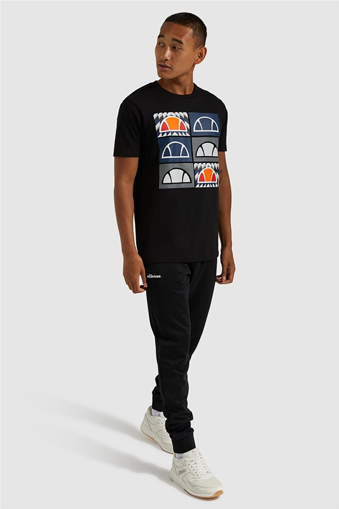 "Ellesse ανδρικό T-shirt με logo print ""Romal"" Μπλε Σκούρο 1"