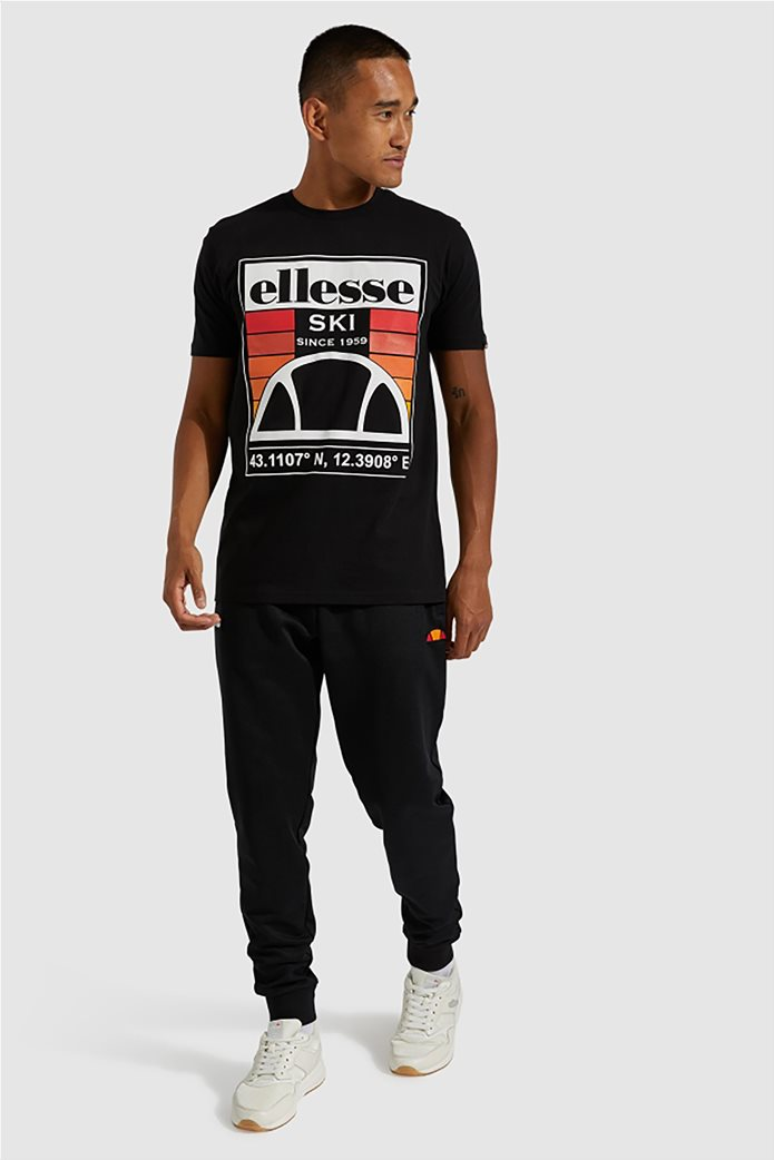 "Ellesse ανδρικό T-shirt με logo print ""Tero"" Μαύρο 1"