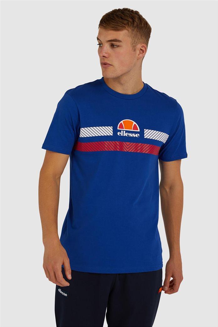 "Ellesse ανδρικό T-shirt με logo print ""Glisenta"" Μπλε Σκούρο 0"