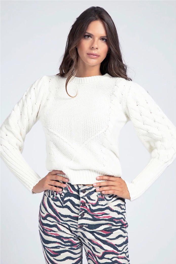 "Guess γυναικεία πλεκτή μπλούζα με σχέδιο στη πλέξη ""Sarah"" 0"