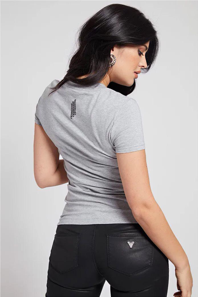 "Guess γυναικείο T-shirt με logo print ""Mini Triangle Tee"" 2"