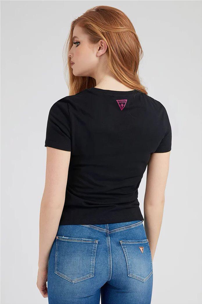 "Guess γυναικείο T-shirt με graphic print ""1981 Tee"" Μαύρο 2"