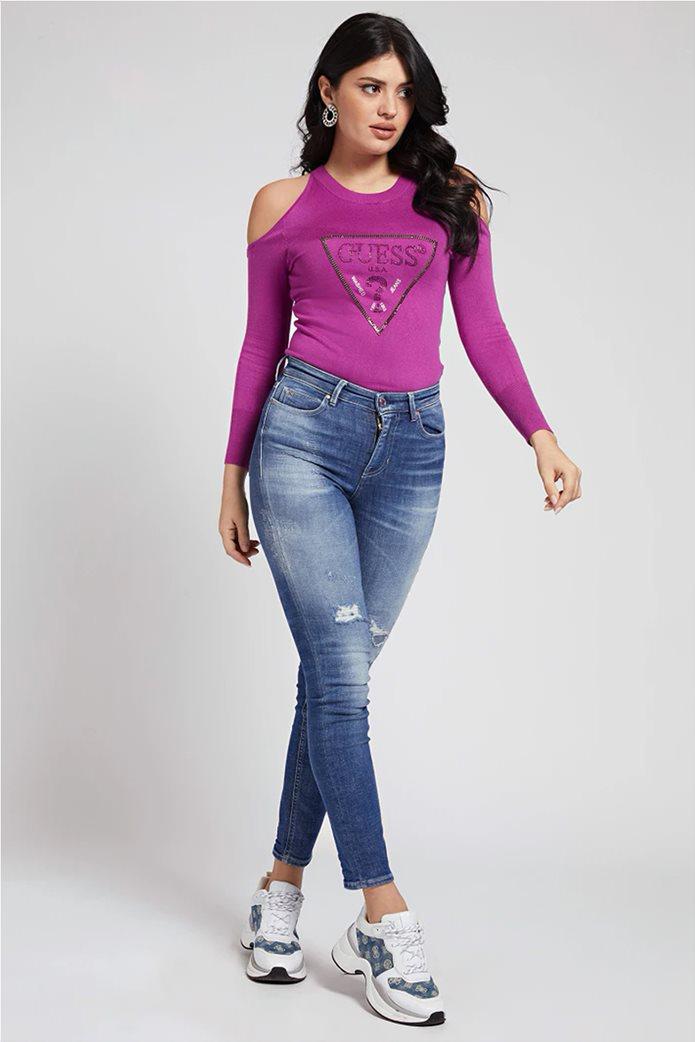 "Guess γυναικεία μπλούζα με ανοιχτούς ώμους ""Aurelie"" 1"