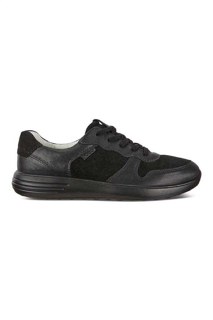 ECCO  ανδρικά δερμάτινα sneakers με κορδόνια Μαύρο 0