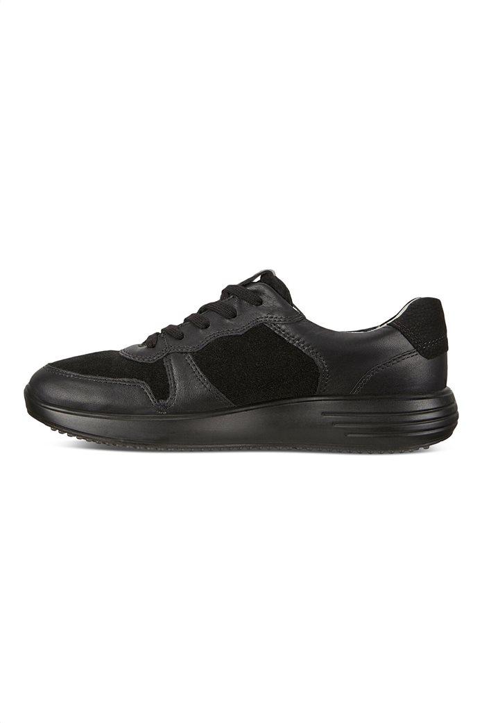 ECCO  ανδρικά δερμάτινα sneakers με κορδόνια Μαύρο 2