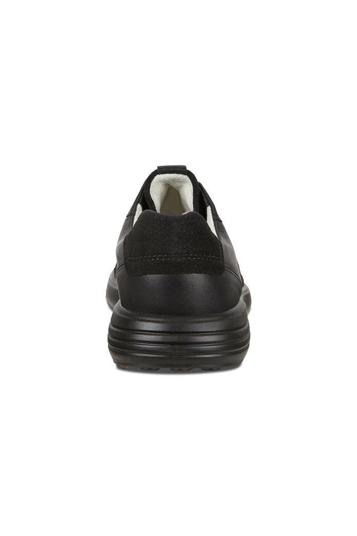 ECCO  ανδρικά δερμάτινα sneakers με κορδόνια Μαύρο 3