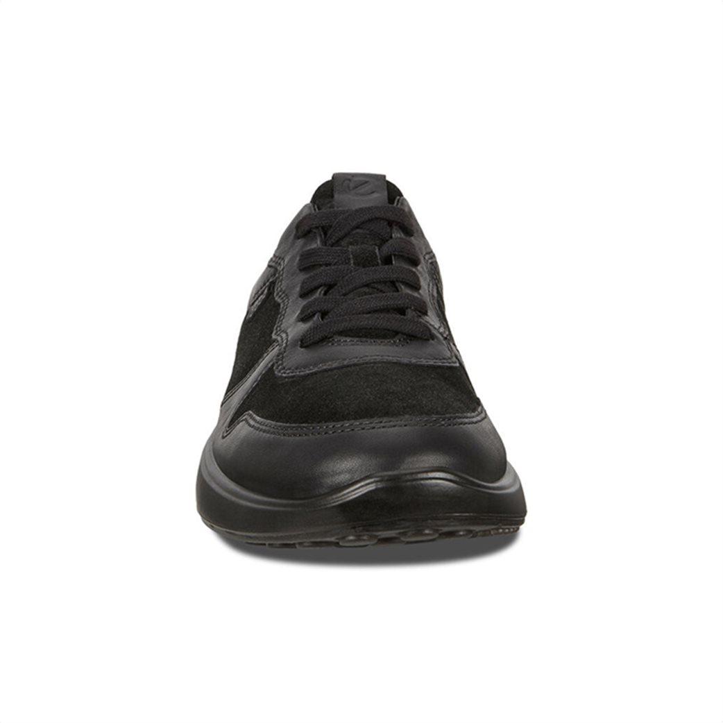 ECCO  ανδρικά δερμάτινα sneakers με κορδόνια Μαύρο 4