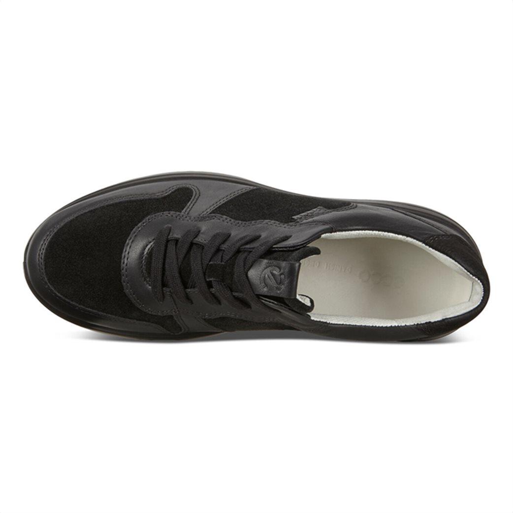 ECCO  ανδρικά δερμάτινα sneakers με κορδόνια Μαύρο 5