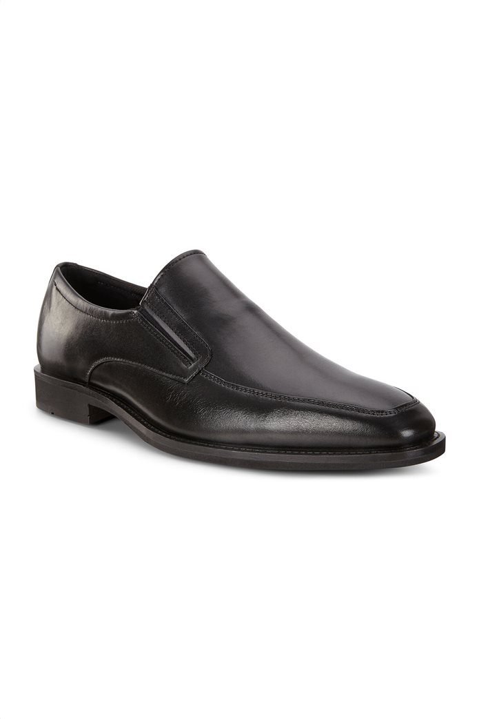ECCO ανδρικά δερμάτινα loafers Μαύρο 1