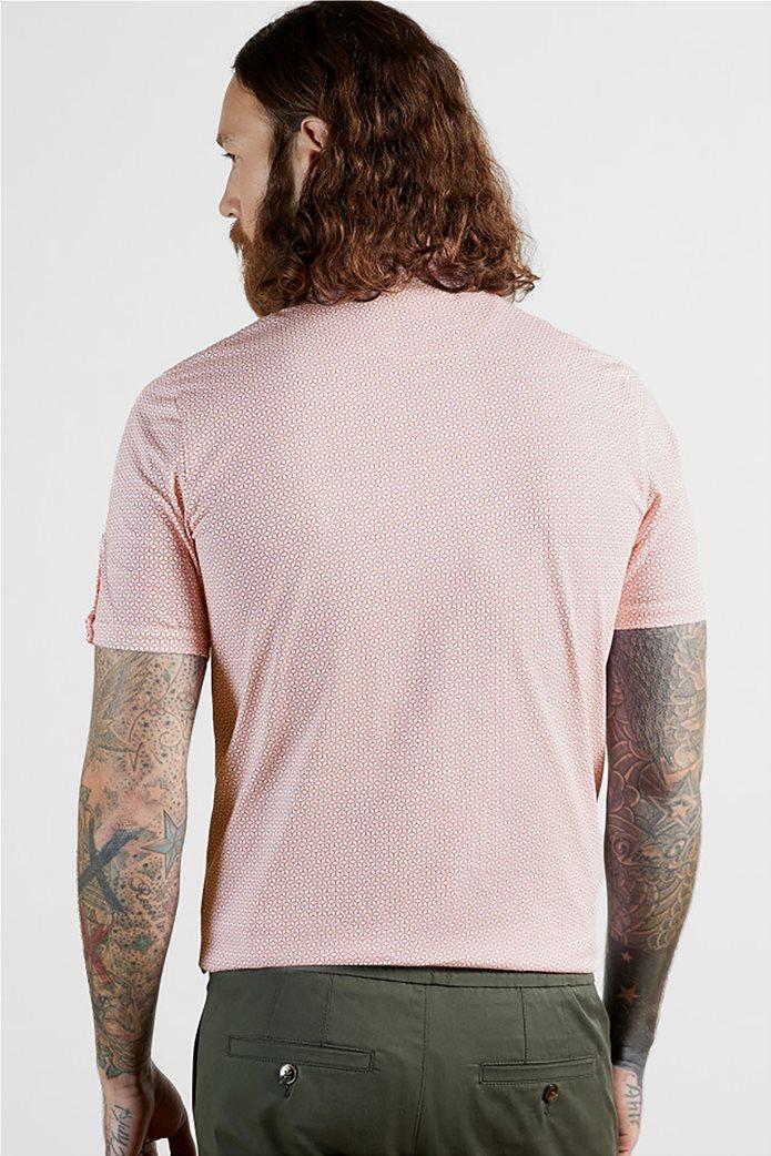 """Ted Baker ανδρική πόλο μπλούζα με all-over print """"Limbo"""" Κόκκινο 1"""
