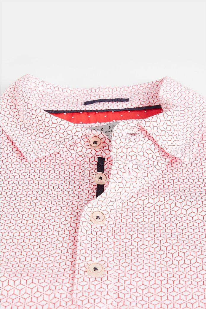 """Ted Baker ανδρική πόλο μπλούζα με all-over print """"Limbo"""" Κόκκινο 4"""